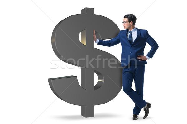 ビジネスマン ドル記号 孤立した 白 男 背景 ストックフォト © Elnur