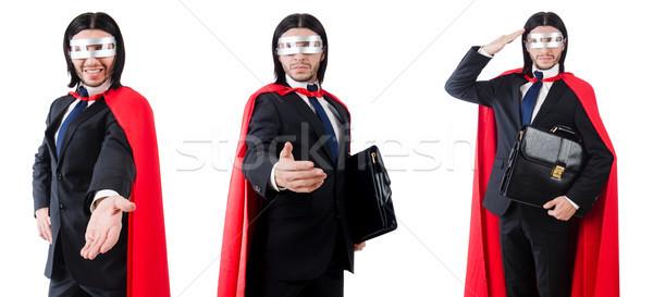 Man Rood kleding grappig business Stockfoto © Elnur