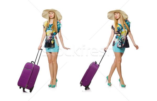 путешествия отпуск Камера белый женщину пляж Сток-фото © Elnur