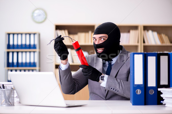 Criminal businessman with dynamite in the office Stock photo © Elnur