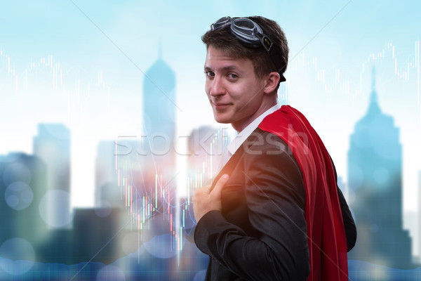 Businessman with red cover in business concept Stock photo © Elnur