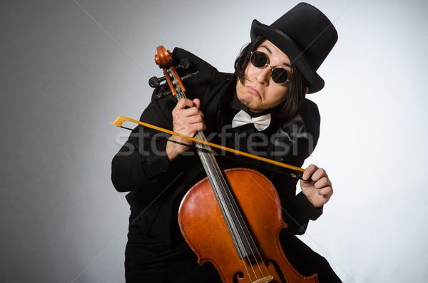 Homem musical arte fundo óculos concerto Foto stock © Elnur