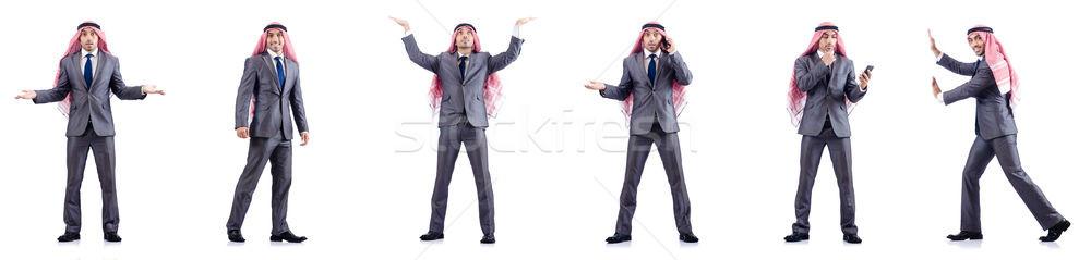 набор фотографий арабских бизнесмен человека счастливым Сток-фото © Elnur