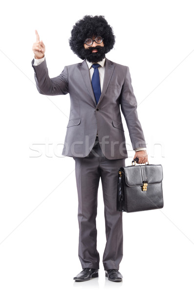 Businessman isolated on the white background Stock photo © Elnur