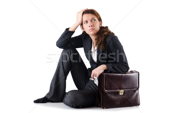 Bankrupt businesswoman isolated on white Stock photo © Elnur