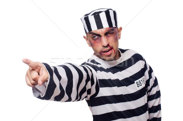 Prisoner with bad bruises on white Stock photo © Elnur
