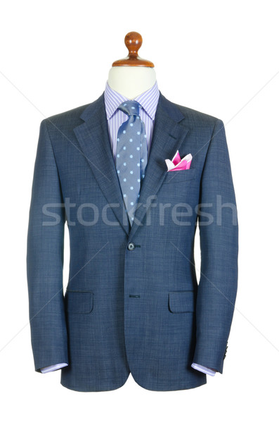 Male clothinh suit on stand isolated white Stock photo © Elnur