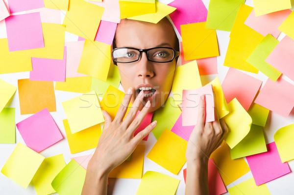 üzletasszony emlékeztető jegyzetek üzlet nő mosoly Stock fotó © Elnur