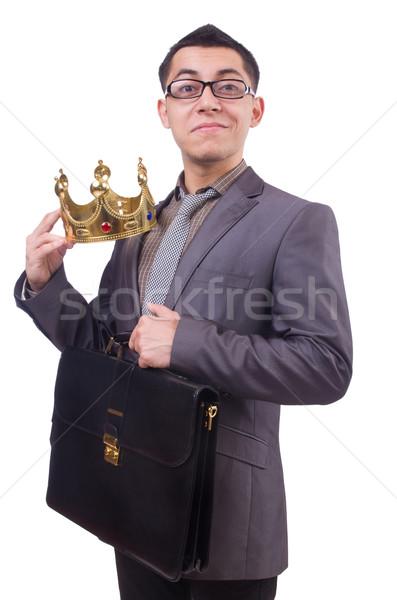 King businessman isolated on white Stock photo © Elnur