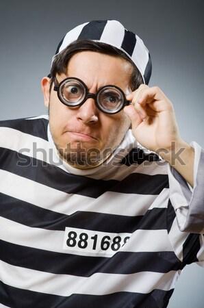 Vicces börtön bennlakó törvény jókedv rendőrség Stock fotó © Elnur