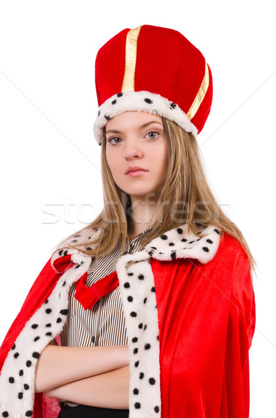 Kobieta królowej odizolowany biały pracy biznesmen Zdjęcia stock © Elnur