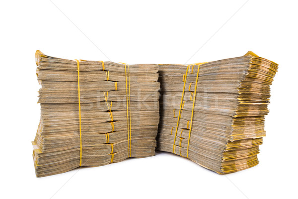 Stack of money isolated on the white Stock photo © Elnur