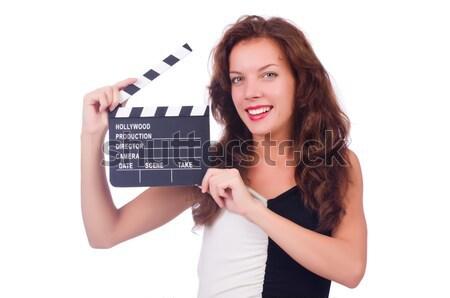 Nő gengszter film tábla fehér biztonság Stock fotó © Elnur