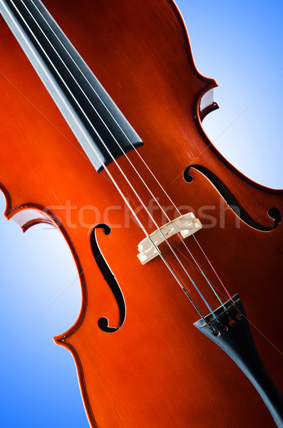 Violin isolated on the white background Stock photo © Elnur