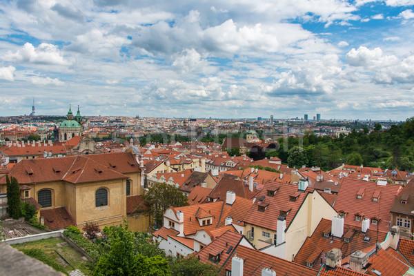 Сток-фото: мнение · Прага · ярко · лет · день · небе