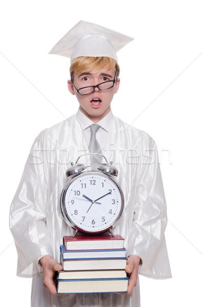 Student brakujący terminy zegar biały papieru Zdjęcia stock © Elnur