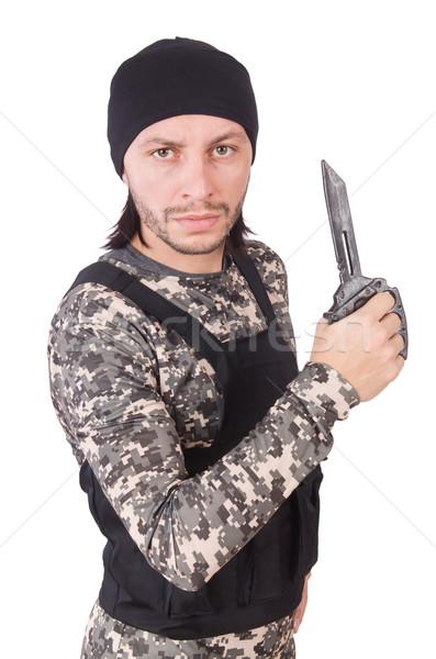Joven aislado blanco hombre pelo Foto stock © Elnur