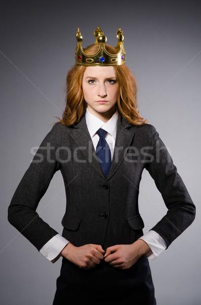 Rainha empresária engraçado mulher empresário terno Foto stock © Elnur