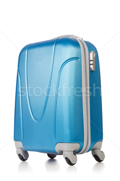 Travel concept with luggage suitacase isolated on white Stock photo © Elnur
