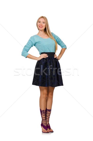 волос девушки темно синий юбка Сток-фото © Elnur