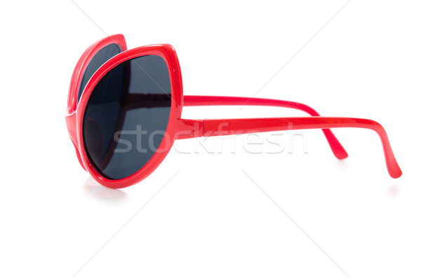 Red sunglasses isolated on white Stock photo © Elnur