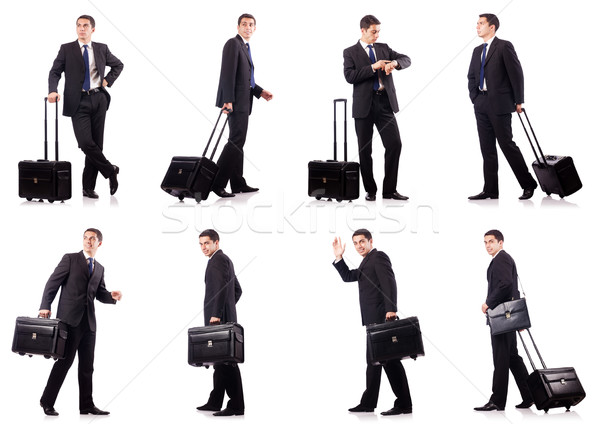 Young businessman during business trip Stock fotó © Elnur