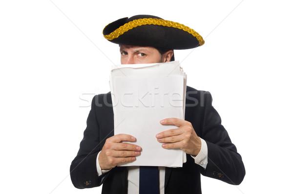 海賊 ビジネスマン 論文 孤立した 白 ストックフォト © Elnur