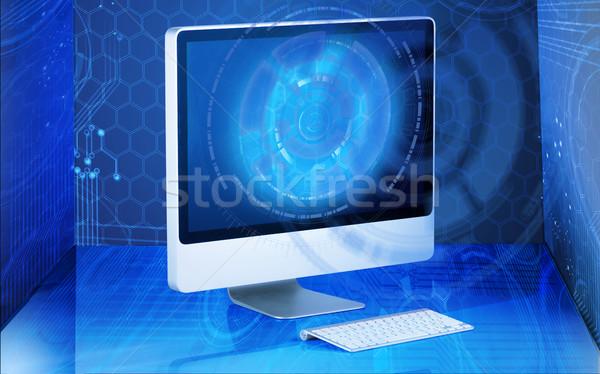 Ekranie komputera działalności komputera Internetu pracy tle Zdjęcia stock © Elnur