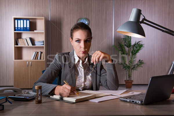 The businesswoman working in the office Stock photo © Elnur