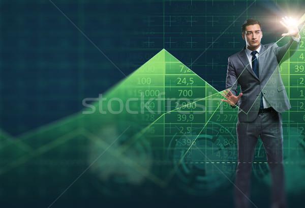 Uomo stock di trading uomo d'affari business soldi Foto d'archivio © Elnur