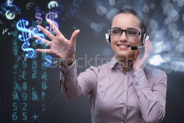 Businesswoman with dollar in business concept Stock photo © Elnur