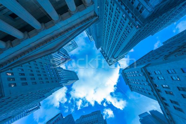 ニューヨーク 高層ビル 通り レベル オフィス 市 ストックフォト © Elnur