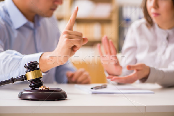 Judge gavel deciding on marriage divorce Stock photo © Elnur