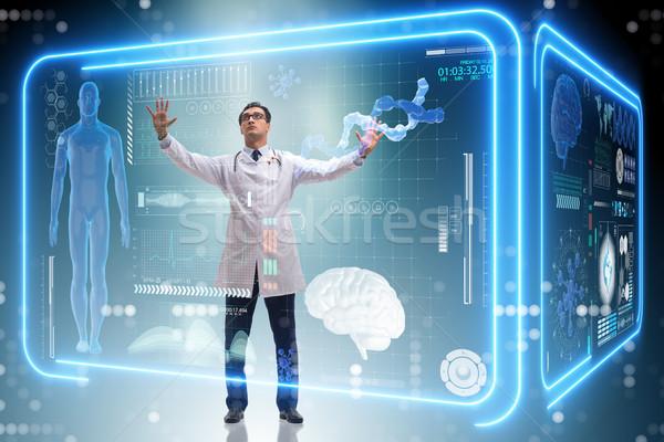 Arts futuristische medische knop computer Stockfoto © Elnur