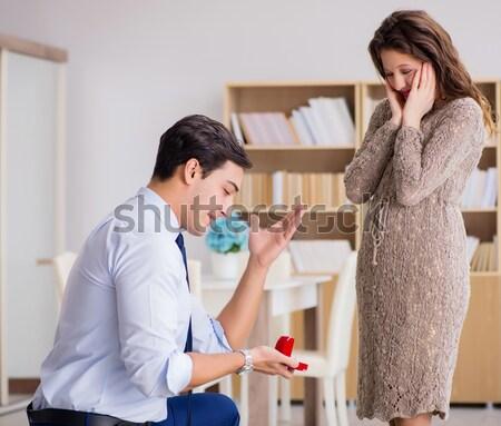 Romantica uomo matrimonio proposta business Foto d'archivio © Elnur