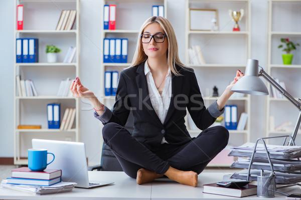 Imprenditrice frustrato ufficio computer ragazza Foto d'archivio © Elnur