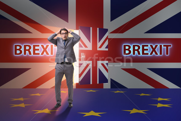 Businessman in Brexit concept - UK leaving EU Stock photo © Elnur