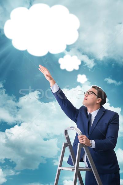 üzletember ki üzenet üzlet épület férfi Stock fotó © Elnur