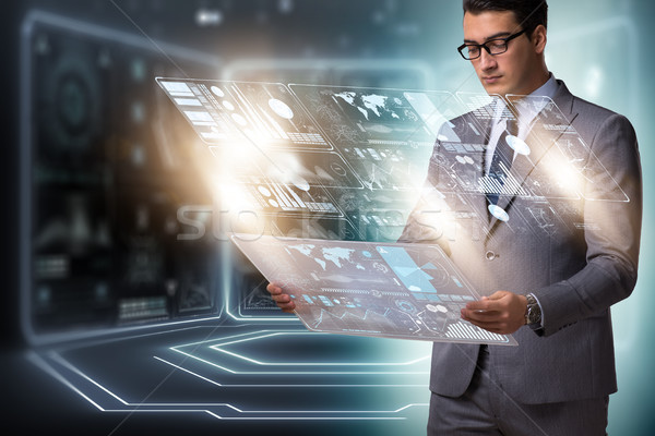 Businessman in big data management concept Stock photo © Elnur