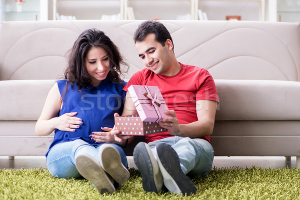 The young couple family expecting a baby Stock photo © Elnur