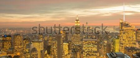 Widoku Nowy Jork Manhattan wygaśnięcia działalności niebo Zdjęcia stock © Elnur