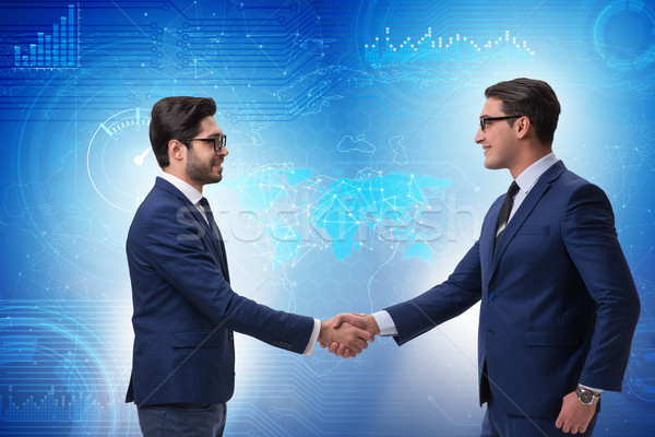 Business Zusammenarbeit Geschäftsleute Hand Sitzung Geschäftsmann Stock foto © Elnur