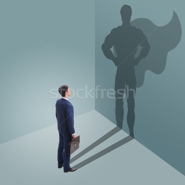 The businessman with aspiration of becoming superhero Stock photo © Elnur