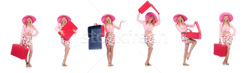 Woman preparing for travel on summer vacation Stock photo © Elnur