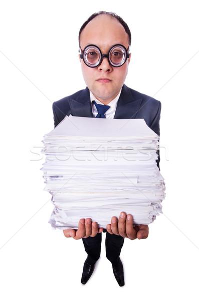 Engraçado homem branco escritório empresário Foto stock © Elnur