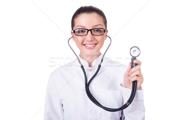 Woman doctor isolated on white Stock photo © Elnur