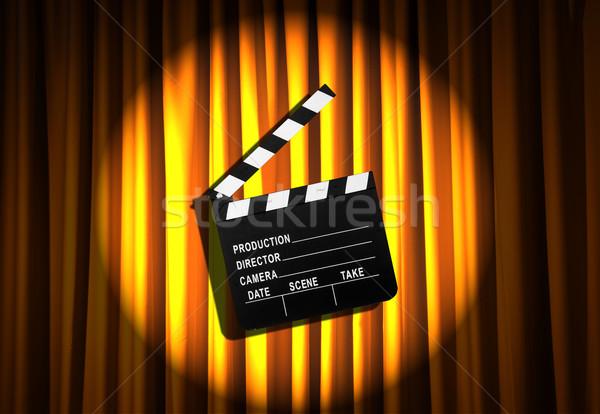 映画 ボード カーテン 背景 芸術 業界 ストックフォト © Elnur