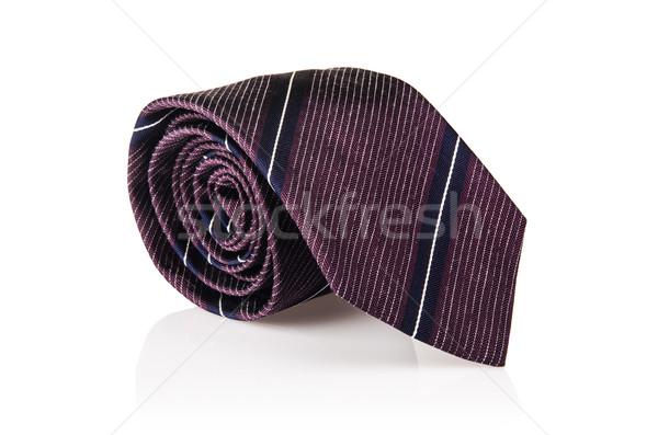 Elegant mătase masculin cravată alb Imagine de stoc © Elnur