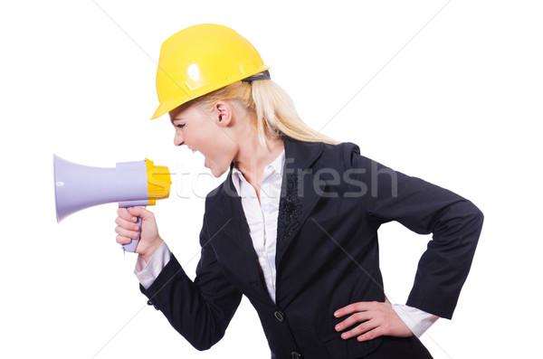 Femminile altoparlante business donna costruzione Foto d'archivio © Elnur