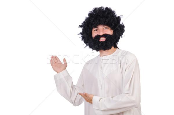 волосатый смешные человека изолированный белый работник Сток-фото © Elnur
